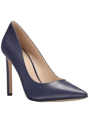 Nine West Süet Stiletto Ayakkabı Lacivert